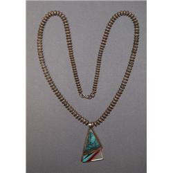 NAVAJO NECKLACE AND PENDANT
