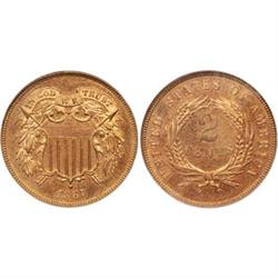Two-Cent Pieces 1867 PCGS PR65 RB