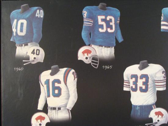 buffalo bills jersey history