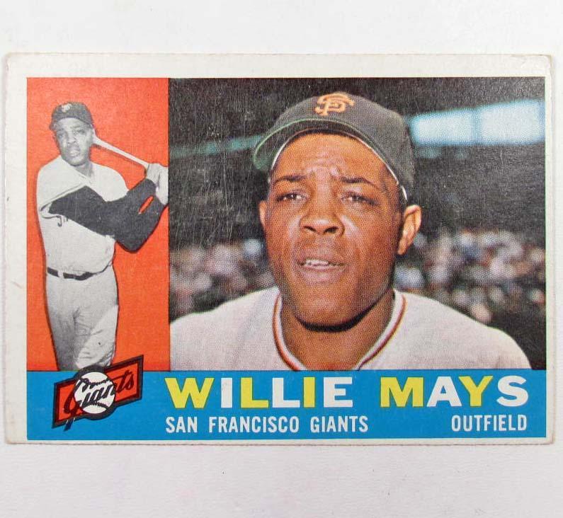 1960 Topps Willie Mays Baseball Card