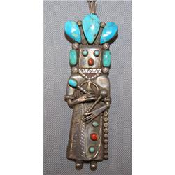 NAVAJO SILVER PENDANT NECKLACE