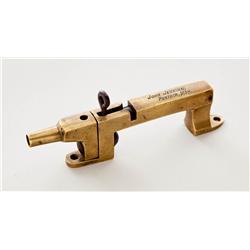 Bronze Antique Percussion Alarm Gun