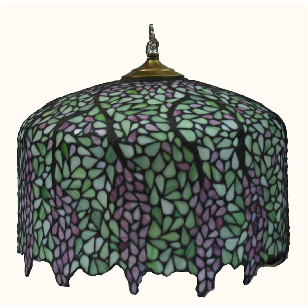 Stained Glass Lamp Shade Wisteria