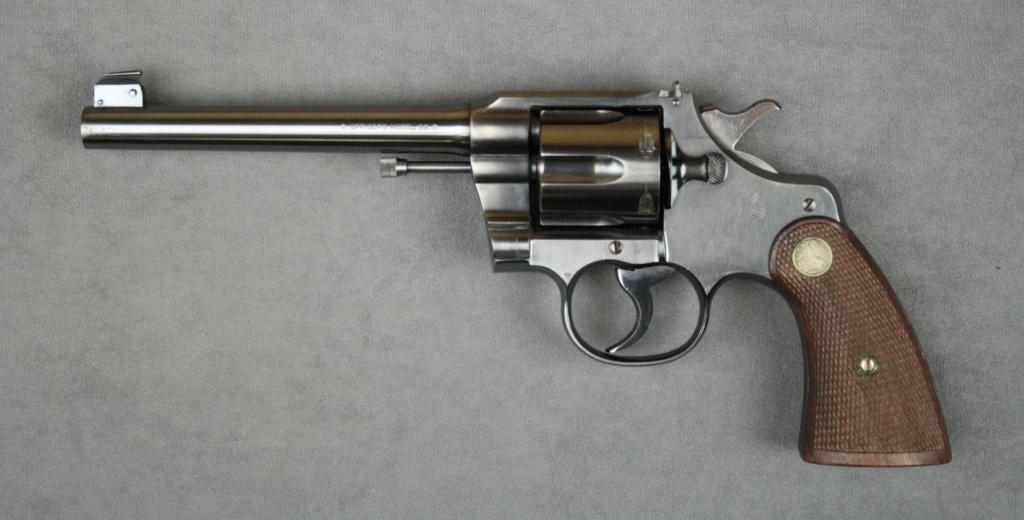 Colt Officers Model flat top target DA revolver, .38 cal., 6 ...