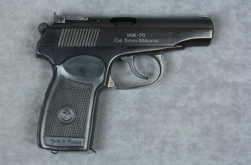 Baikal Russian made Model IJ-70 DA semi-auto pistol, 9mm