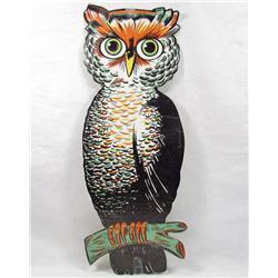 VINTAGE BEISTLE DIE CUT EMBOSSED OWL HALLOWEEN DECORATION