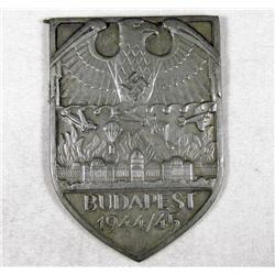 GERMAN NAZI BUDAPEST PLAQUE