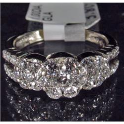 14K WHITE GOLD DIAMOND RING - SIZE 6