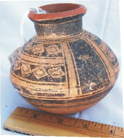 museum restored pottery piece
