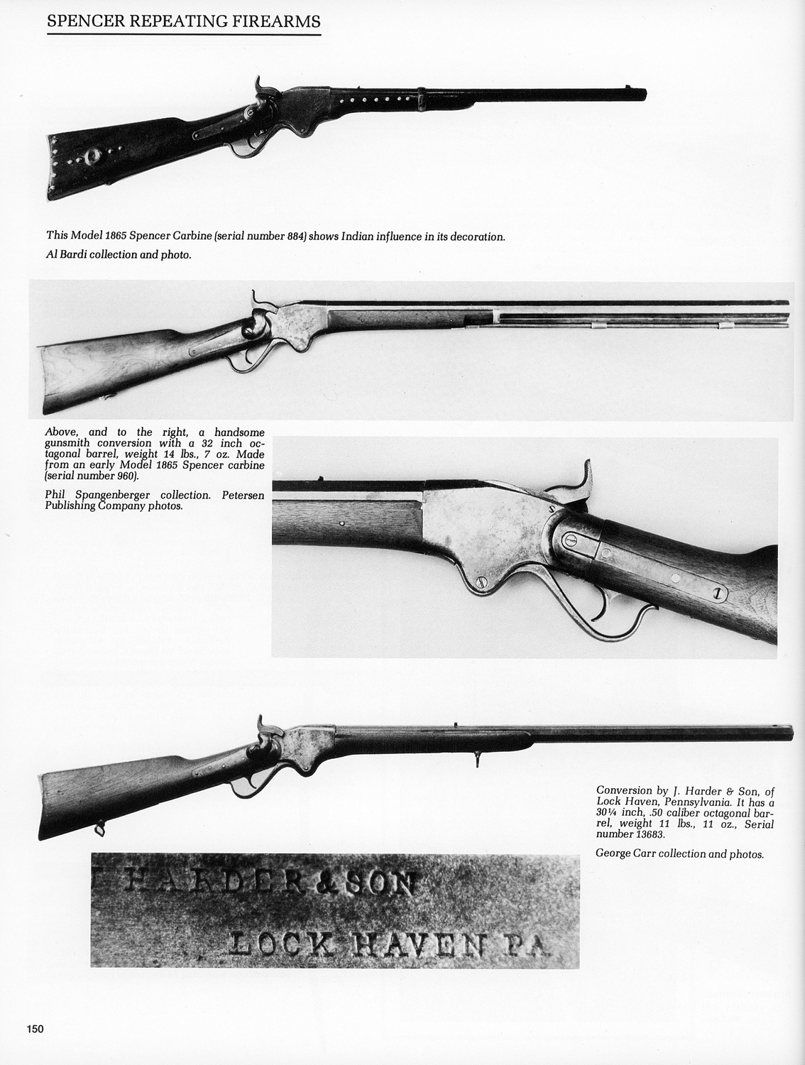 Spencer Repeating Rifle with Heavy Harder & Son Lock Haven, PA Barrel  Photographed in Spencer Book