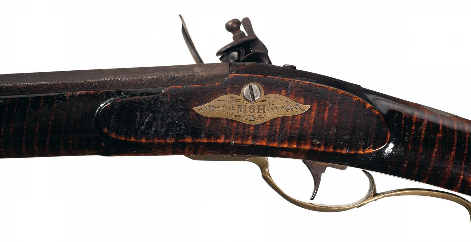 Pennsylvania Attributed Full Stock Flintlock Kentucky Rifle