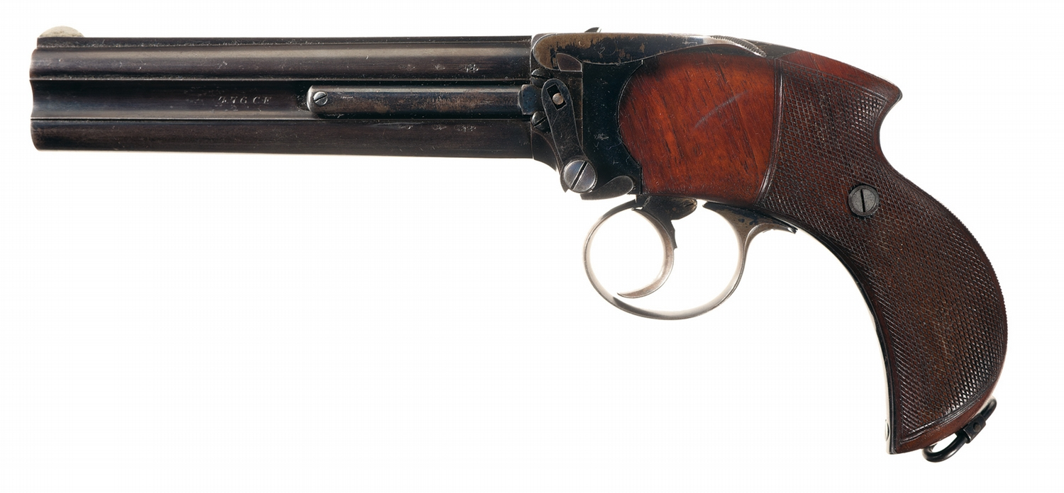 Excellent Lancaster Charles Superposed Barreled Howdah Pistol