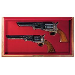 Two Engraved Colt Black Powder Series Percussion Revolvers -A) Custom Shop Engraved Colt 1851 Navy B