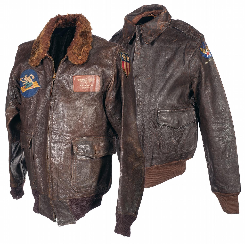 41cf3d190 Two World War II U.S. Flight Jackets with Related Flight Gear