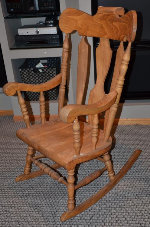 watch f095a 86d36 Classic Tall Wooden Rocking Chair Rocker Yugoslavia
