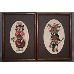 TWO NEEDLEPOINT PICTURES