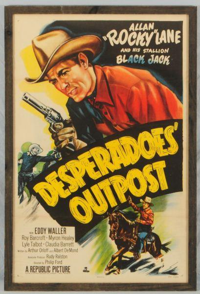 Allan Rocky Lane Desperado S Outpost Movie Poster
