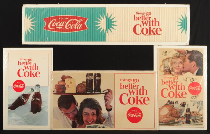 4 Vintage Coca Cola Advertising Posters