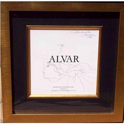 Alvar, Sunol - Original Drawing hand signed