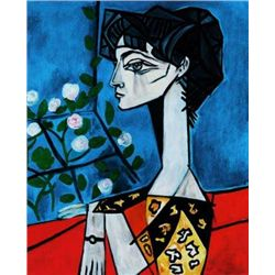 Picasso, Pablo - Portrait of Jacqueline Roque - signed and numbered print