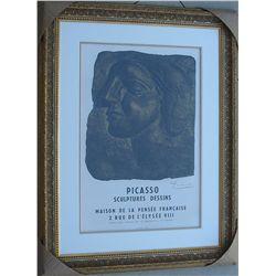 Picasso, Pablo - RARE Original lithograph/collotype Hand Signed