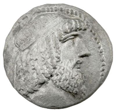 Greek Kings of Characene: Attambelos IV AE27 Portrait