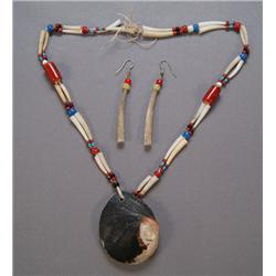 NORTHERN CALIFORNIA SHELL NECKLACE & EARRINGS