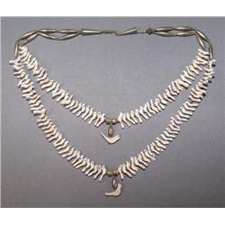 NAVAJO TWO  STRAND FETISH NECKLACE