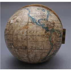 WOODEN GLOBE FROM KIT CARSON MUSEUM