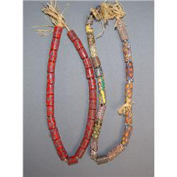 TWO STRANDS TRADE BEADS