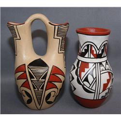 TWO JEMEZ POTTERY ITEMS