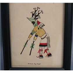 ORIGINAL PUEBLO WATERCOLOR