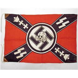 GERMAN NAZI WAFFEN SS BANNER SKULL FLAG
