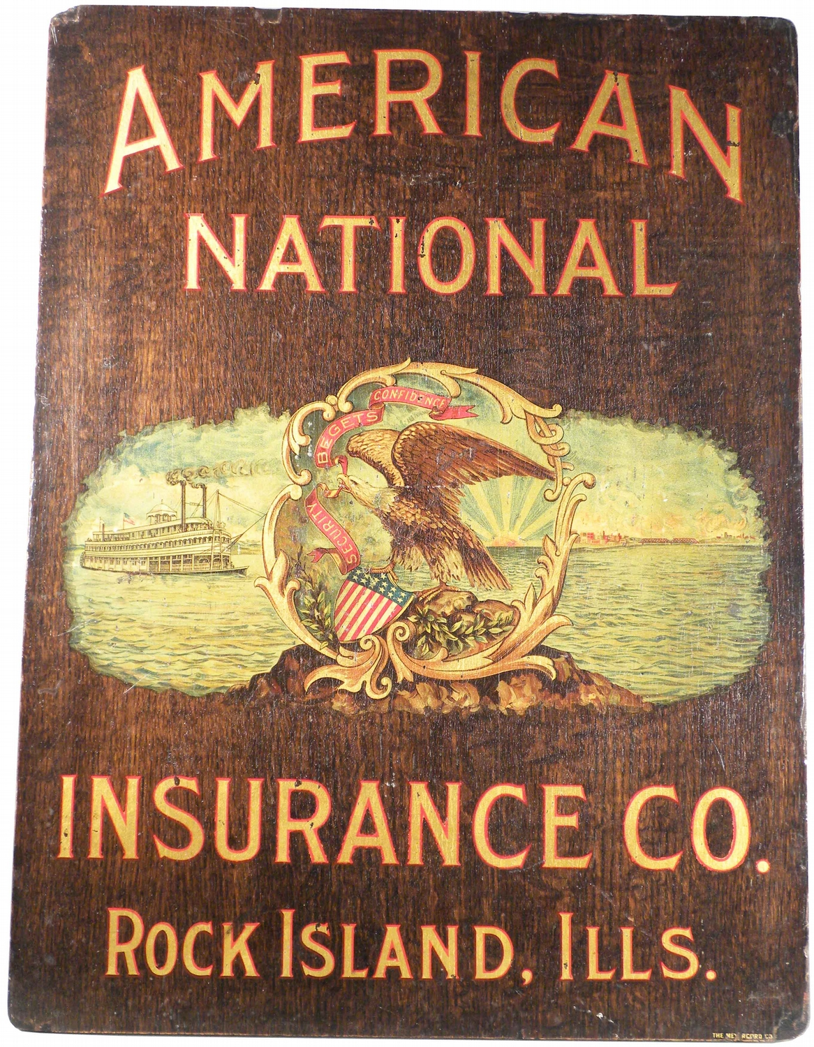 American National Insurance Co Wood Sign