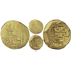 Mexico City, Mexico, cob 8 escudos, (171)5J, from the 1715 Fleet.