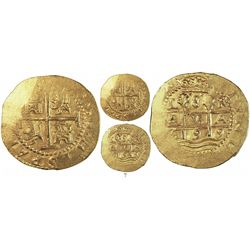 Lima, Peru, cob 8 escudos, 1699R, rare, from the 1715 Fleet.