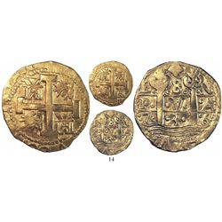 Lima, Peru, cob 8 escudos, 1736N.