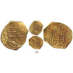 """Bogota, Colombia, cob 2 escudos, (16)28A, from the """"Mesuno Hoard"""" (ca. 1636), very rare, plate coin"""