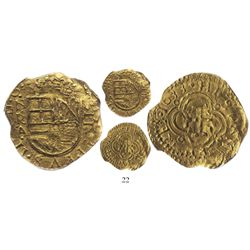 "Bogota, Colombia, cob 2 escudos, 1633A, rare, from the ""Mesuno hoard"" (ca. 1636), encapsulated PCGS"