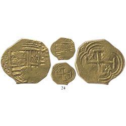 Bogota, Colombia, cob 2 escudos, (1)638A, rare, ex-Lasser collection.
