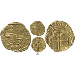 Bogota, Colombia, cob 2 escudos, 1640/39A, bold date, rare.