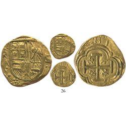 Bogota, Colombia, cob 2 escudos, (16)42A, very rare.