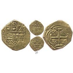 Bogota, Colombia, cob 2 escudos, 1645( R), very rare.