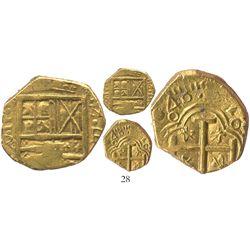 Bogota, Colombia, cob 2 escudos, (1)646R, very rare.