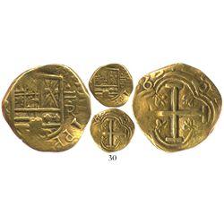 Bogota, Colombia, cob 2 escudos, (1)653R, ex-Caballero collection.