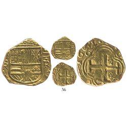 Bogota, Colombia, cob 2 escudos, 1662/1R, rare, plate coin in Restrepo-Lasser.