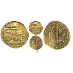 Bogota, Colombia, cob 2 escudos, (1)689(G), ex-Lasser collection, encapsulated NGC VF 35.