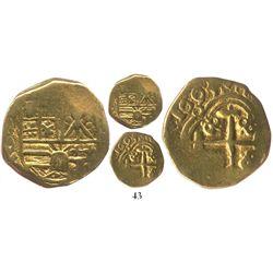 Bogota, Colombia, cob 2 escudos, 1694/3, unique.