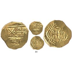 Bogota, Colombia, cob 2 escudos, 1699, from the 1715 Fleet.