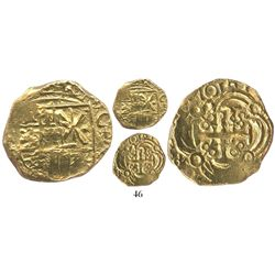 Bogota, Colombia, cob 2 escudos, 1701, posthumous Charles II, from the 1715 Fleet.